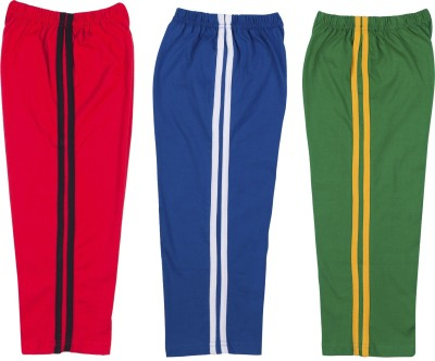 Hunny Bunny Solid Baby Boy's Red, Blue, Green Track Pants
