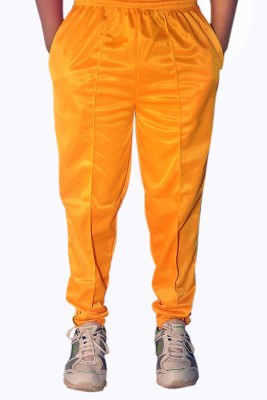 Dyed Colors Solid Men's Yellow, Yellow Track Pants
