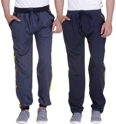 Grand Bear Striped Men's Blue, Dark Blue Track Pants