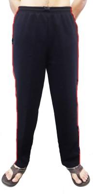 Bluedge Solid Men,s Black, Red Track Pants