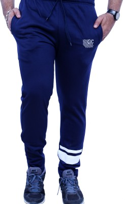 Griffel Solid Men's Blue Track Pants
