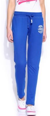 Harvard Solid Women's Blue Track Pants