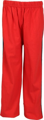 Lava Looser No 1-Red Striped Boy's Red Track Pants
