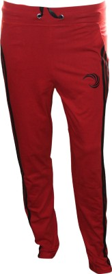 Omtex Solid Men,s Red Track Pants