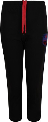 Jazzup Solid Boy's Black Track Pants