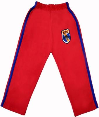 Sweet Angel Self Design Boy's Red Track Pants