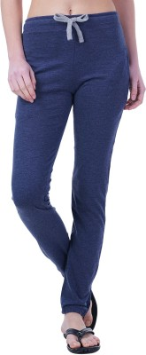 Wake Up Competition Solid Women's Blue Track Pants