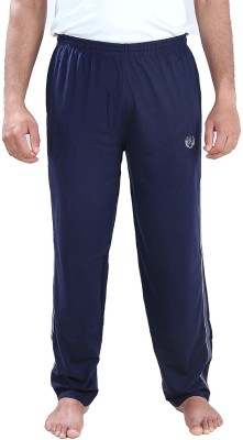 Illicit Nation Solid Men's Dark Blue Track Pants