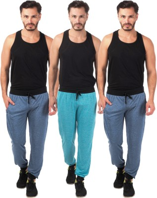 Meebaw Self Design Men's Dark Blue, Dark Blue, Blue Track Pants