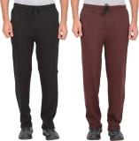Garudaa Garments Solid Men's Black, Brow...