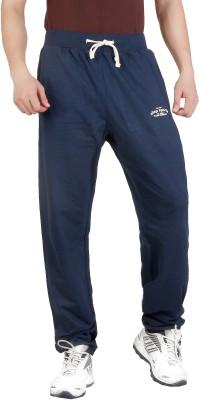 ALIEP Solid Men's Dark Blue Track Pants