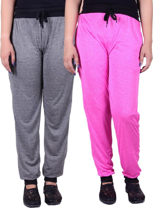 Gag Wear Solid Women's Grey, Pink Track Pants