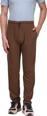 Alfa Active Solid Men's Brown Track Pants
