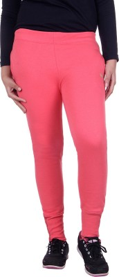 Rafters Solid Women's Orange Track Pants