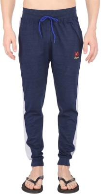 Illicit Nation Solid Men's Light Blue Track Pants