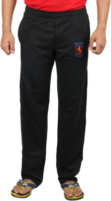 Fizzique Club Embd Solid Men's Black Track Pants