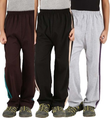Meril Printed Girls Brown, Grey, Black Track Pants