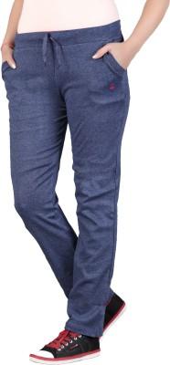 SATYAM Solid Women's Blue Track Pants