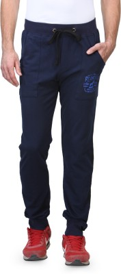 Wear Your Mind Graphic Print Men's Dark Blue Track Pants