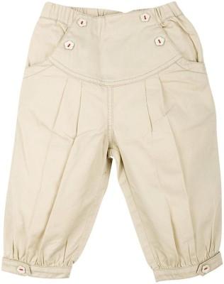 Mom & Me Solid Girl's Beige Track Pants
