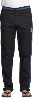 Beevee Solid Men's Black Track Pants