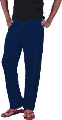 Genx Solid Men's Blue Track Pants