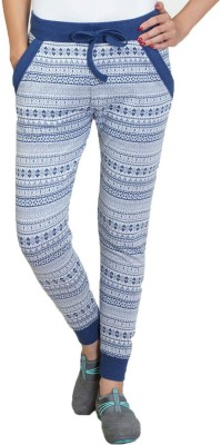 Wake Up Competition Printed Women's Grey Track Pants at flipkart