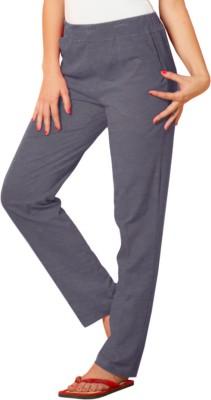 Sweet Dreams Solid Women's Grey Track Pants