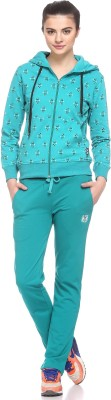 EX10SIVE Solid Women's Green Track Pants