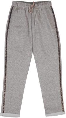 Aristot Embellished Girl's Silver Track Pants