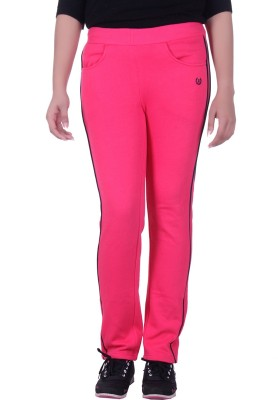 Rafters Solid Women's Pink, Dark Blue Track Pants