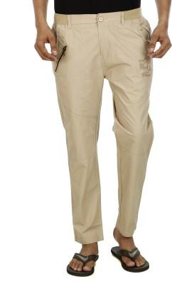 Leg-In Solid Men's Beige Track Pants