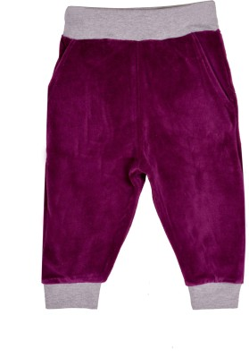 Lil Orchids Solid Girls Purple Track Pants
