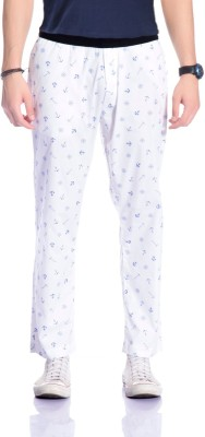 Cool Gene Printed Men's White Track Pants