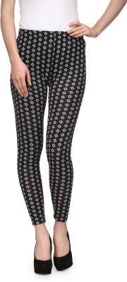 Aspasia Floral Print Women's Black Track Pants