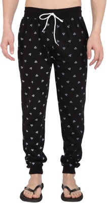Illicit Nation Printed Men's Black Track Pants