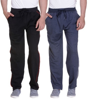 Grand Bear Striped Men's Black, Blue Track Pants