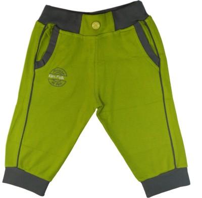 Kinsfolk Solid Boy's Dark Green Track Pants