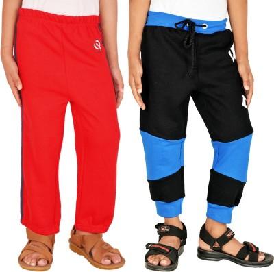 Gkidz Solid Boy,s Red, Black Track Pants