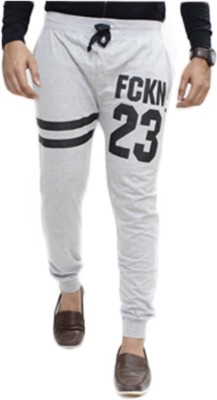 Body Tantrum Solid Men,s Grey, Black Track Pants