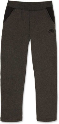 Nike Kids Solid Boy's Grey Track Pants