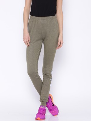 Le Bison Printed Women's Green Track Pants