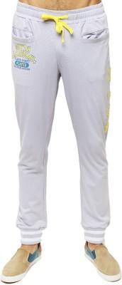 American Swan Solid Men's White Track Pants