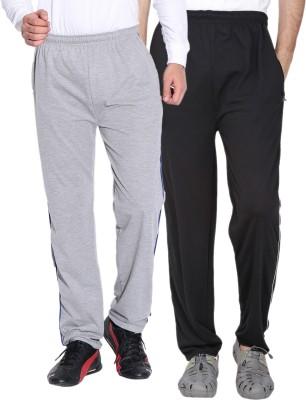 Fizzaro Solid Men's Grey, Black Track Pants