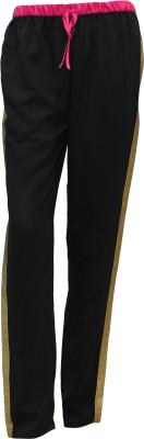 Attuendo Striped Women's Black Track Pants