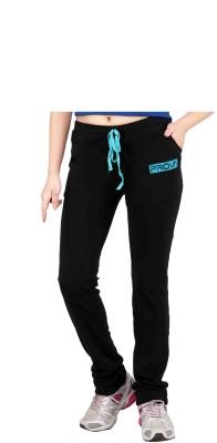 Prova Solid Women's Black Track Pants