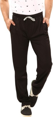Softwear Piping Solid Men's Black Track Pants