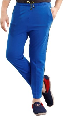 Fizzi Pro Solid Boys Blue Track Pants
