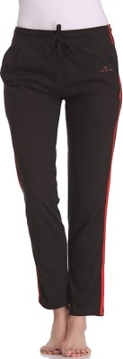 Tryd Pro Striped, Solid Women's Black Track Pants