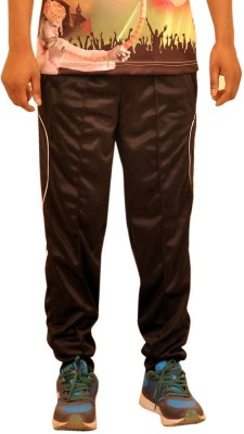 Dyed Colors Striped Men's Black, Orange Track Pants